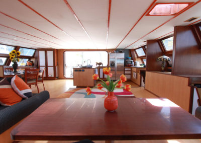 Large Spacious Galley and Dining for over 55 People
